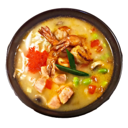 Noodle soup with seafood
